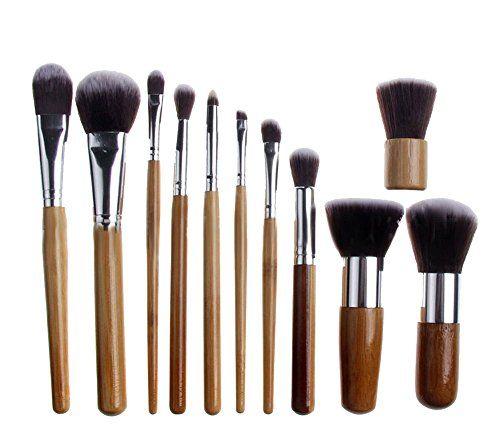 DragonPad 11 Pcs Makeup Brush Set Kabuki Powder Foundation blusher Cosmetic Bamboo Handle dragonpad http://smile.amazon.com/dp/B00FZKB51S/ref=cm_sw_r_pi_dp_TyZ7ub0DWHKZ8