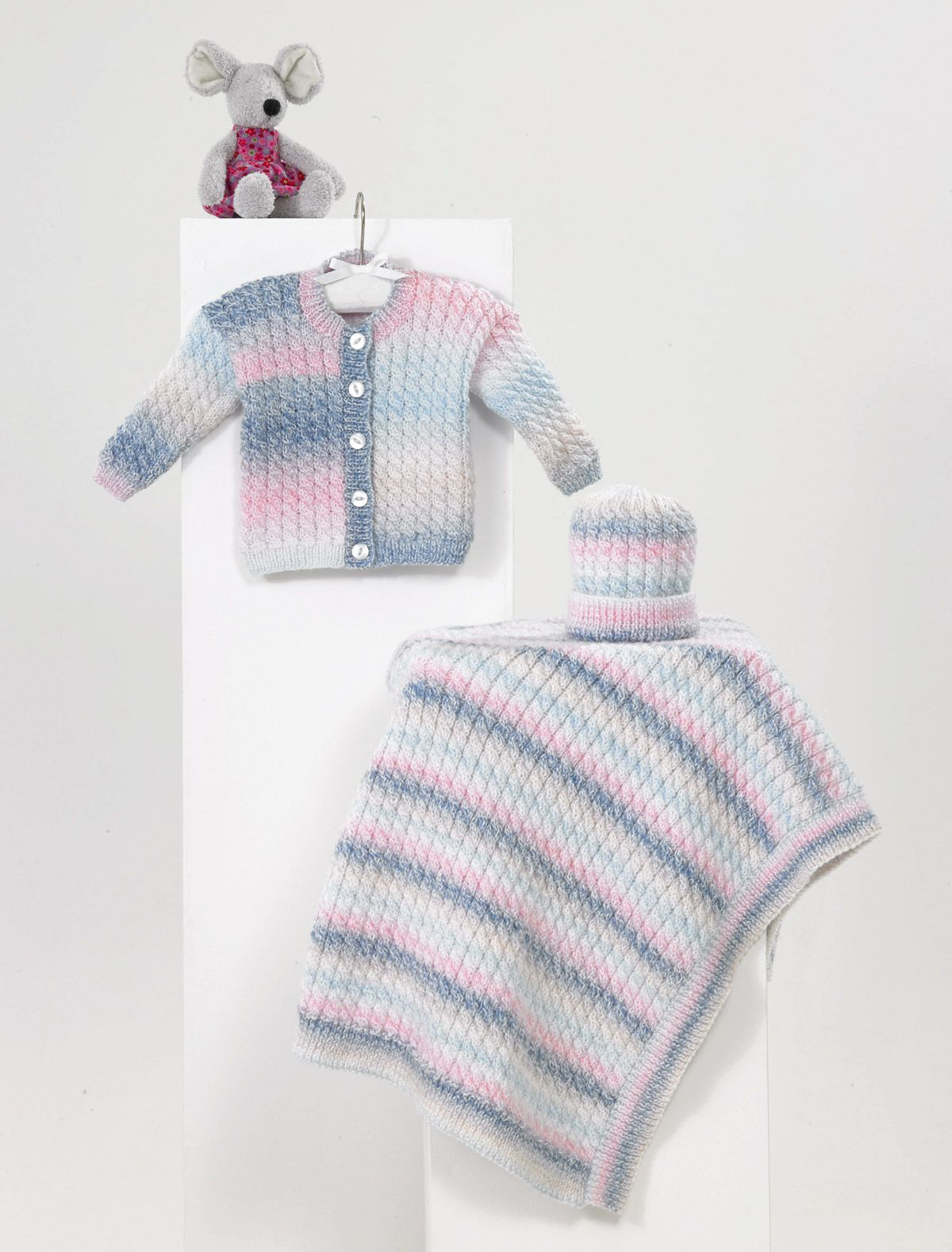 Knitting Pattern James C Brett JB483 Baby DK Cardigan /& Vest