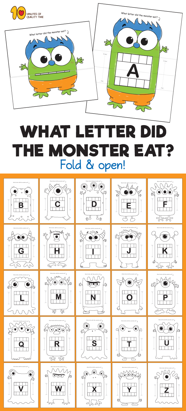 Which Letter Did the Monster Eat | Pinterest | Monsters, Phonics and ...