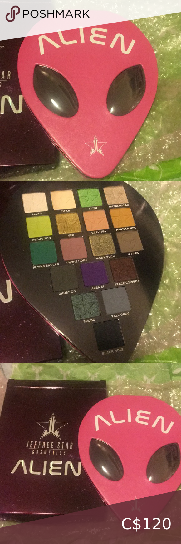Alien Palette DISCONTINUED Jeffree Star Cosmetics NWT in