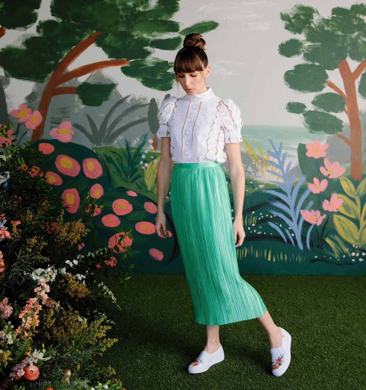 0a85f984d Embroidered Lively Floral Rifle Paper Co. × Keds® Collection