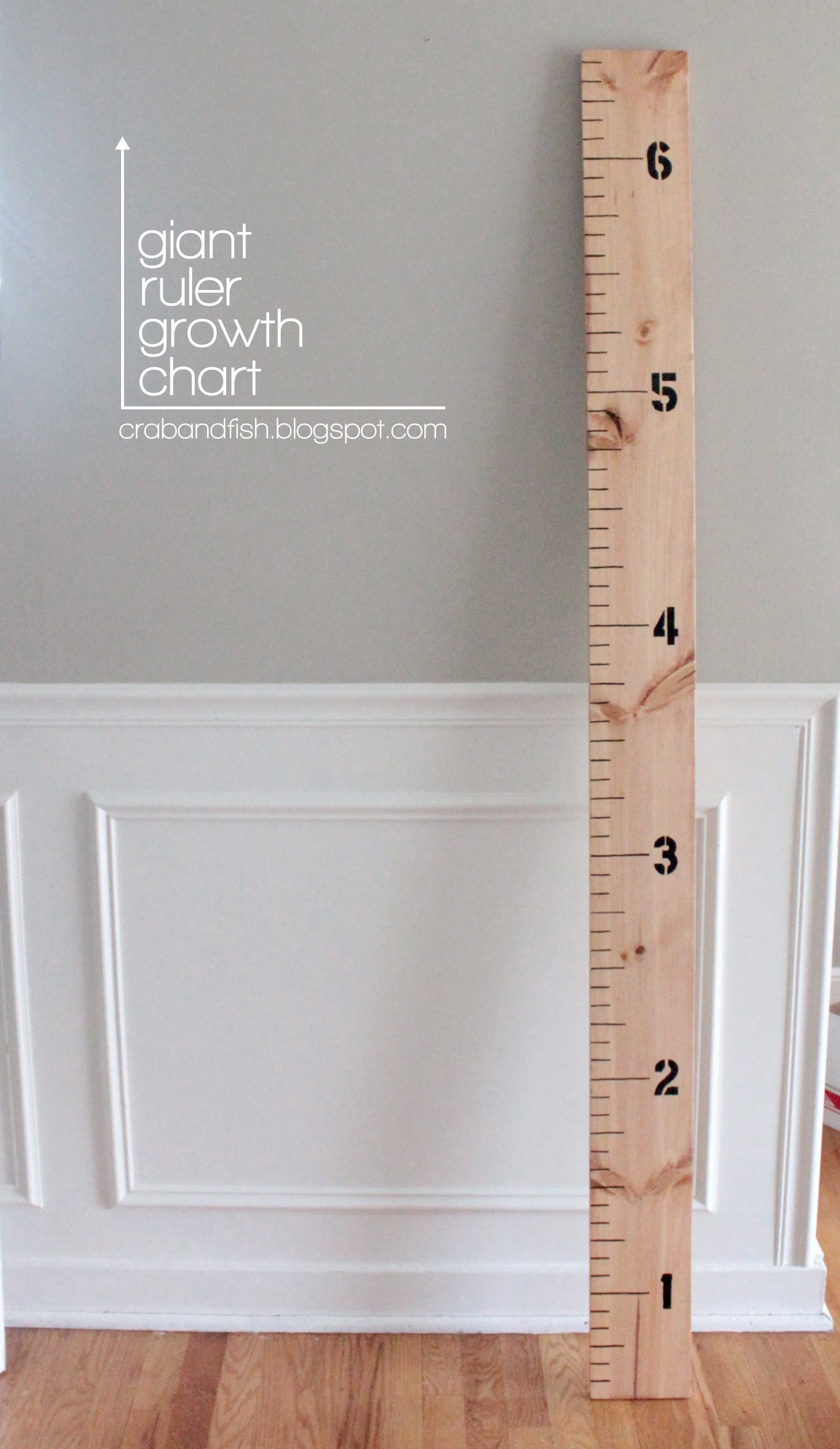 Giant Rule Growth Chart Growth chart ruler, Giant ruler