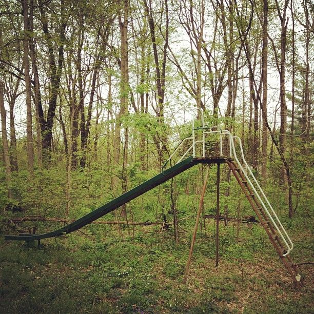 Abandoned Vintage Slide I Found In The Woods Near My House