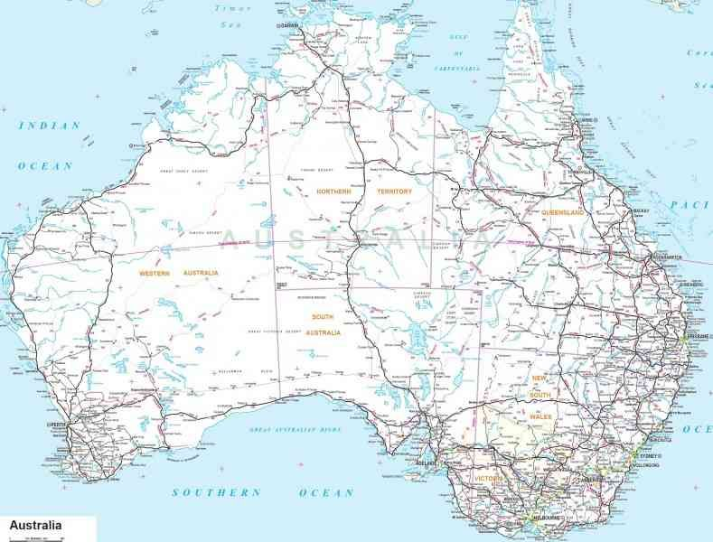 Awesome Map Road Australia Holidaymapq Pinterest Australia - Australian road maps free