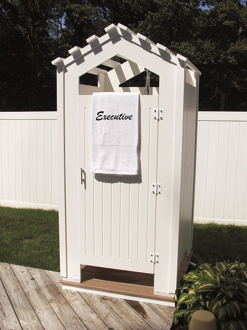 outdoor shower enclosure home great outdoors pinterest creative boys and good ideas. Black Bedroom Furniture Sets. Home Design Ideas