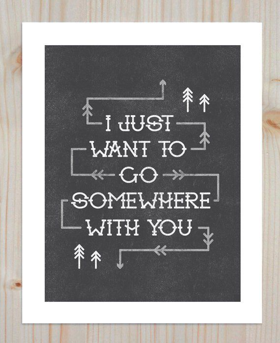 """""""Somewhere with You"""" print from Etsy."""