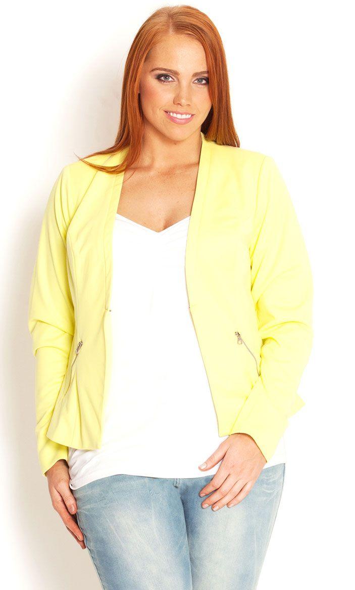 City Chic - MISS ZESTY JACKET - Women's plus size fashion | Chic ...