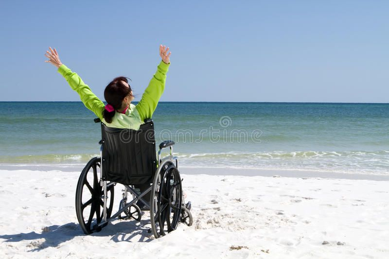 Woman Successful Disabled Woman With Arms Raised Celebrates Her Achievement And Aff Arm Multiple Sclerosis Risk Management Workers Compensation Insurance