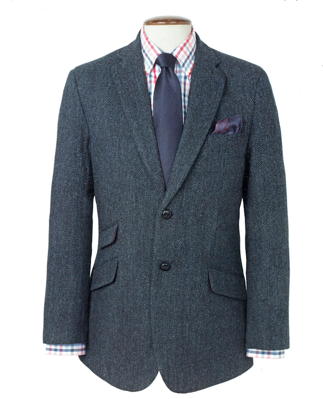 callum blue herringbone jacket | Harris Tweed | Look-Book for a ...