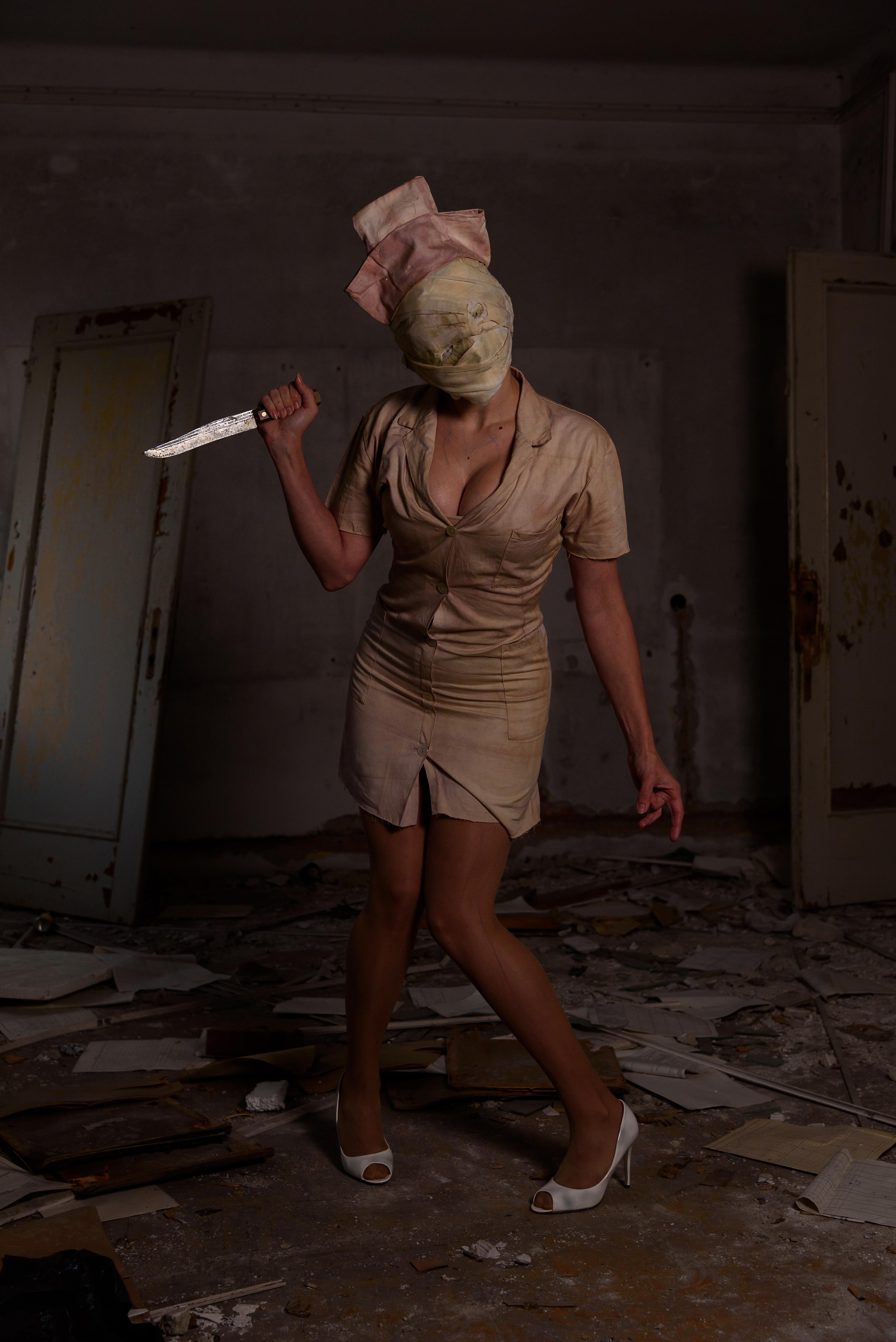 self my silent hill nurse cosplay noctivox costume