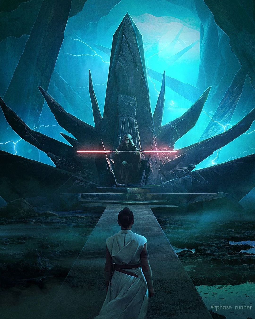 Awesome Concept Art Of Rey And Emperor Palpatine In Rise Of Skywalker Starwars Starwarsart Rey Palp In 2020 Star Wars Pictures Star Wars Artwork Star Wars Images