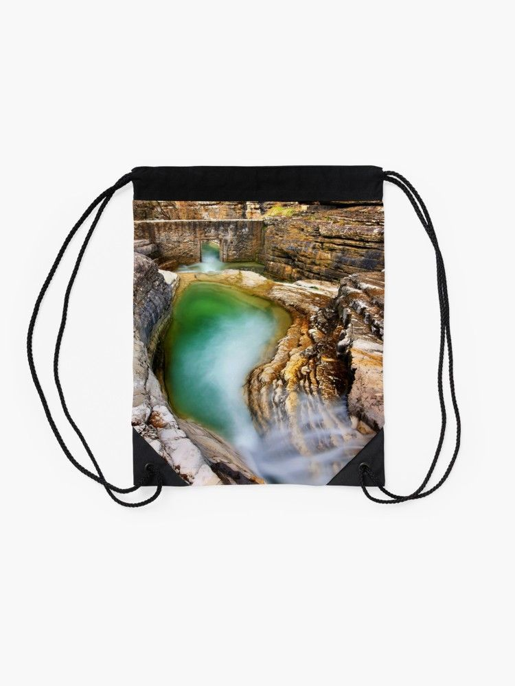 Natural pool in Zagori | Drawstring Bag #ioannina-grecce