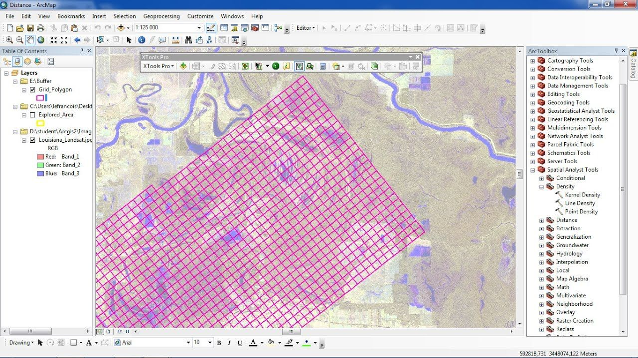 ArcGis How to rotate and create polygon grid usning XTools