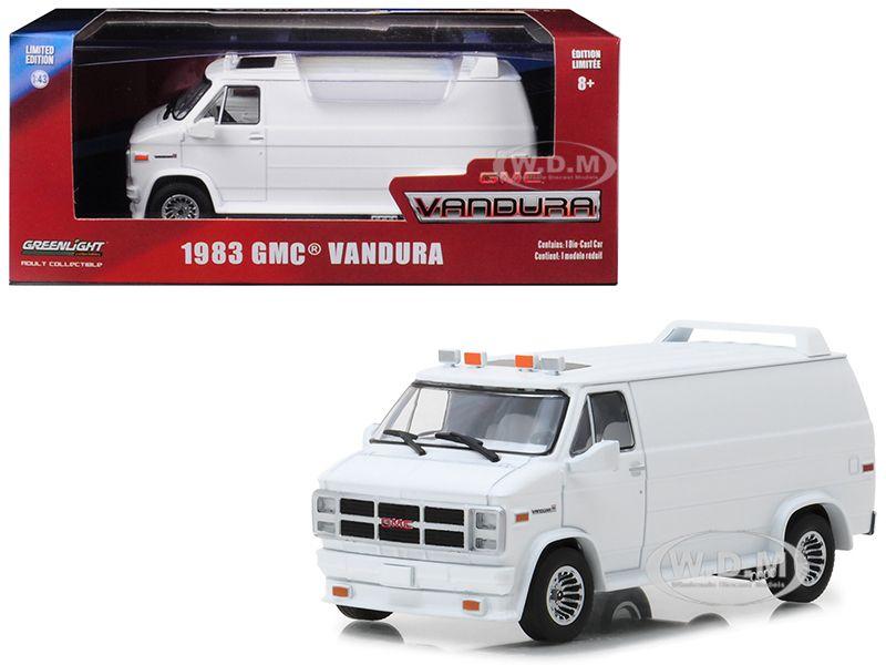1983 gmc vandura custom white 143 diecast model car by
