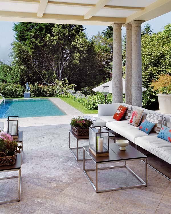 Exteriores perfectos ideas y muebles para el jard n - Porches y jardines ...
