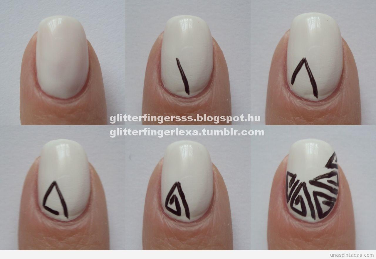 diseños de uñas faciles de hacer para uñas cortas paso a paso ...