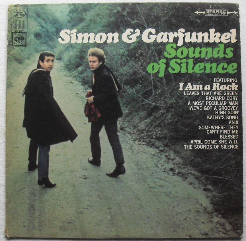1960s Simon And Garfunkel Sounds Of Silence Vinyl Record Sleeve Graphics Simon Garfunkel Vinyl Record Album Vinyl Record Sleeves