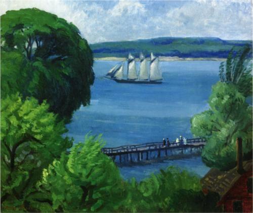 Passing Schooner - John French Sloan 1917