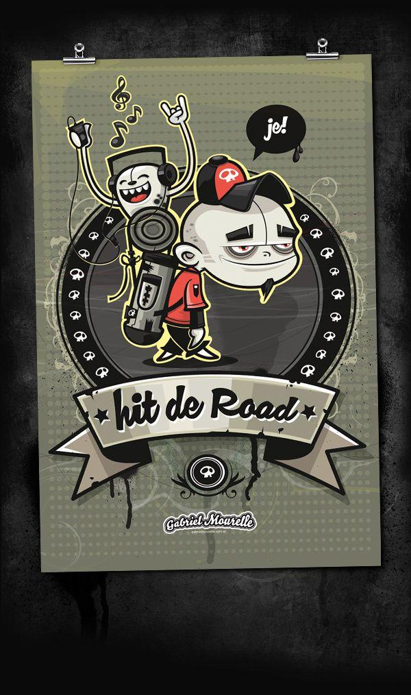 Hit de Road - Poster by Gabriel Mourelle, via Behance