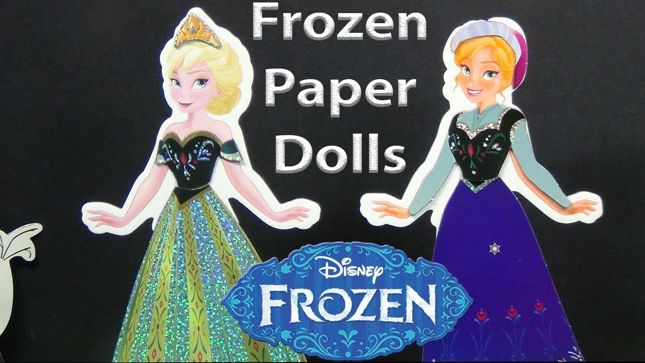 Frozen Elsa and Anna Sparkling Paper Dolls Unboxing.  Over 25 Magnetic F...