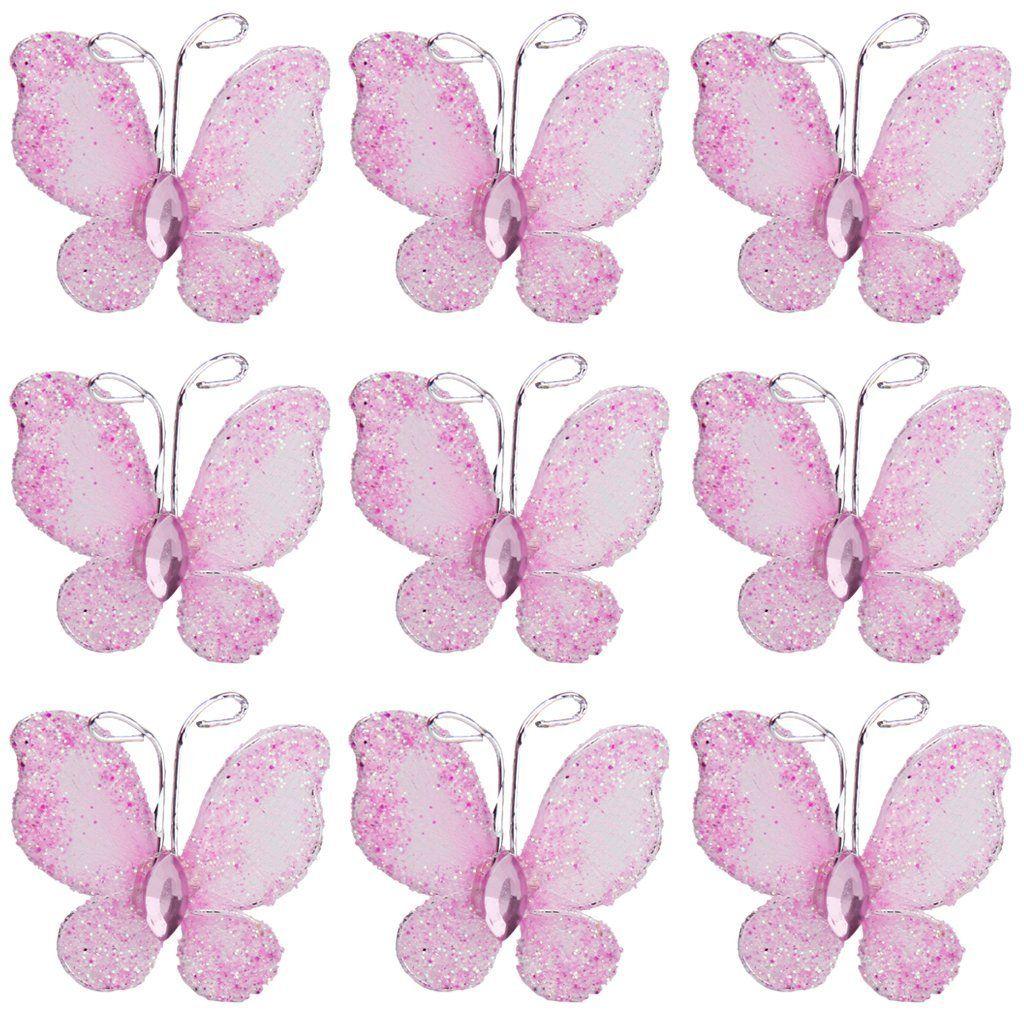 50St. Schmetterlinge Deko für Hochzeit- pink: Amazon.de: Küche & Haushalt