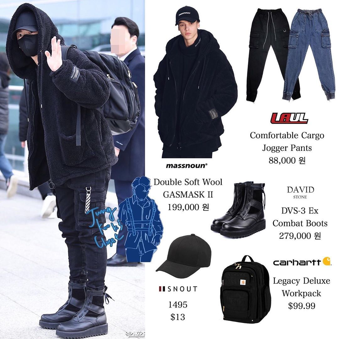 """Official Jungkook's closet ® on Instagram: """"191230   ICN"""