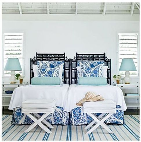 Blue And White Rooms coastal living | beach house guest rooms | pinterest | leto