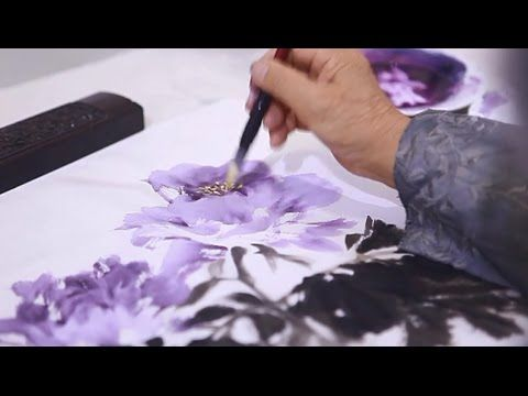 Watercolor Flower Painting Wet On Wet Technique Youtube Urok