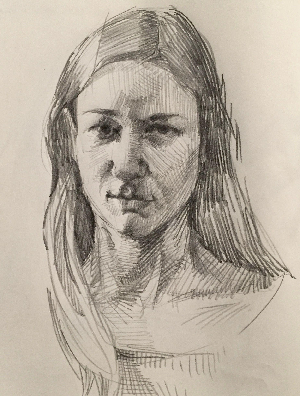 Self Portrait Sketch By Sarah Sedwick 3 29 16 Art Drawing