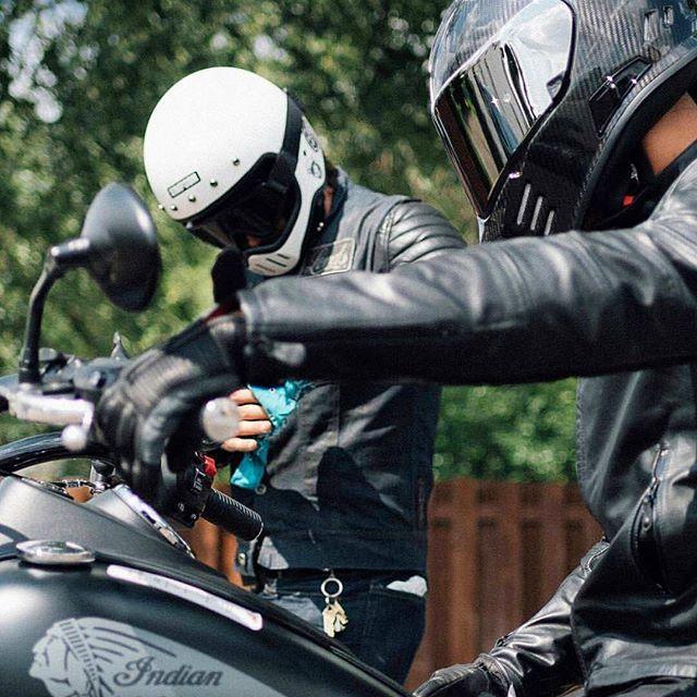 Ride More Talk Less Simpson Motorcycle Helmets Carbon