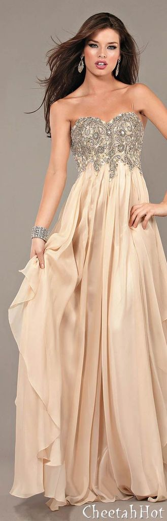 Champagne Colored Prom Dresses and Tuxes