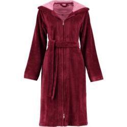 Photo of Vossen bathrobe ladies short coat with hood Palermo burgundy – 016 – L Vossen