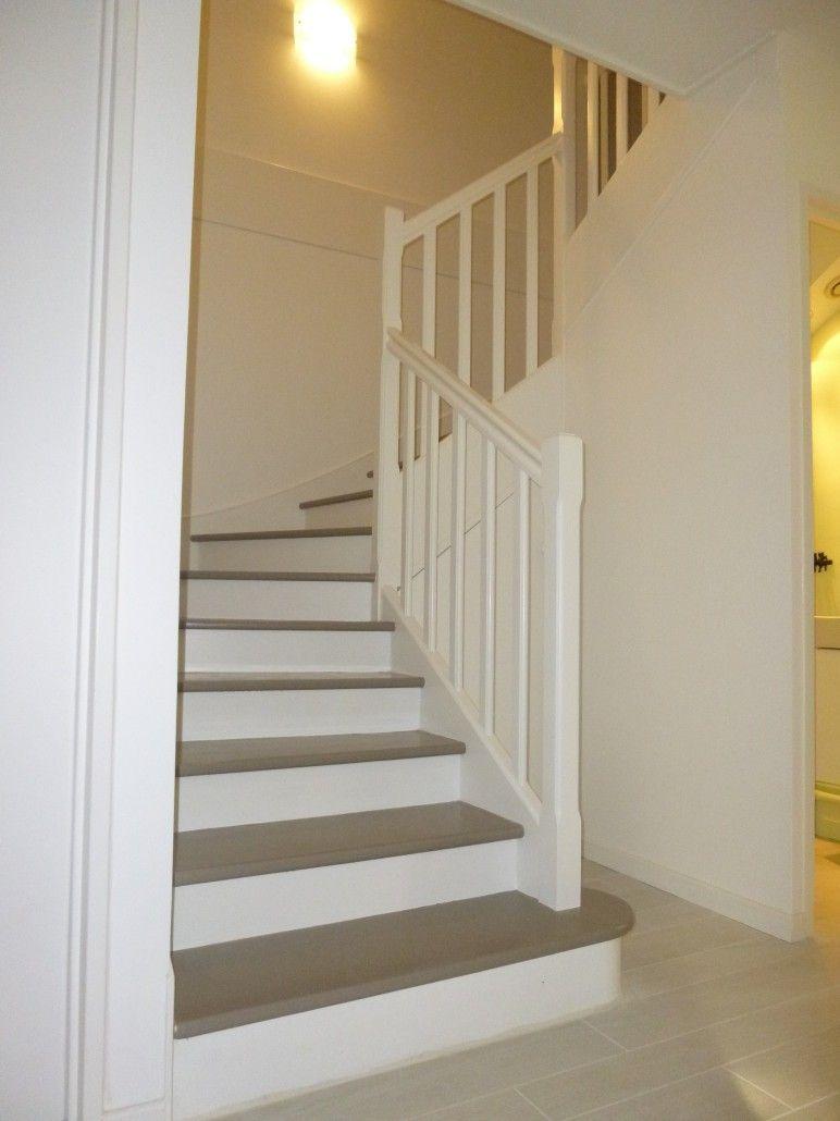 Escalier Blanc Et Taupe Avec Images Escalier Blanc Eclairage