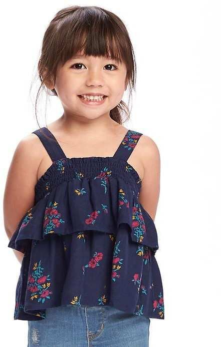 d7f618be08ed1 Old Navy Tiered-Ruffle Linen-Blend Top for Toddler | Products | Tops ...