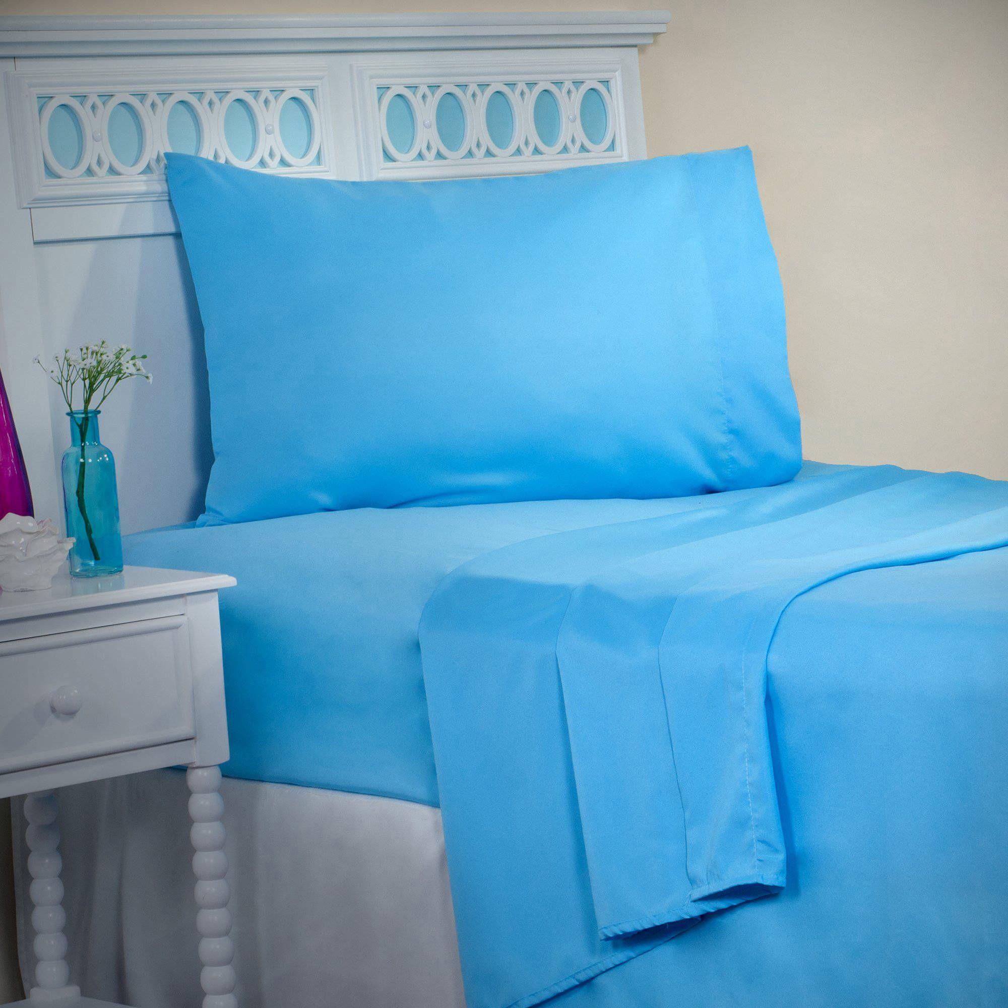Somerset Home Series 1200 3Piece Twin Sheet Set, Blue Sale
