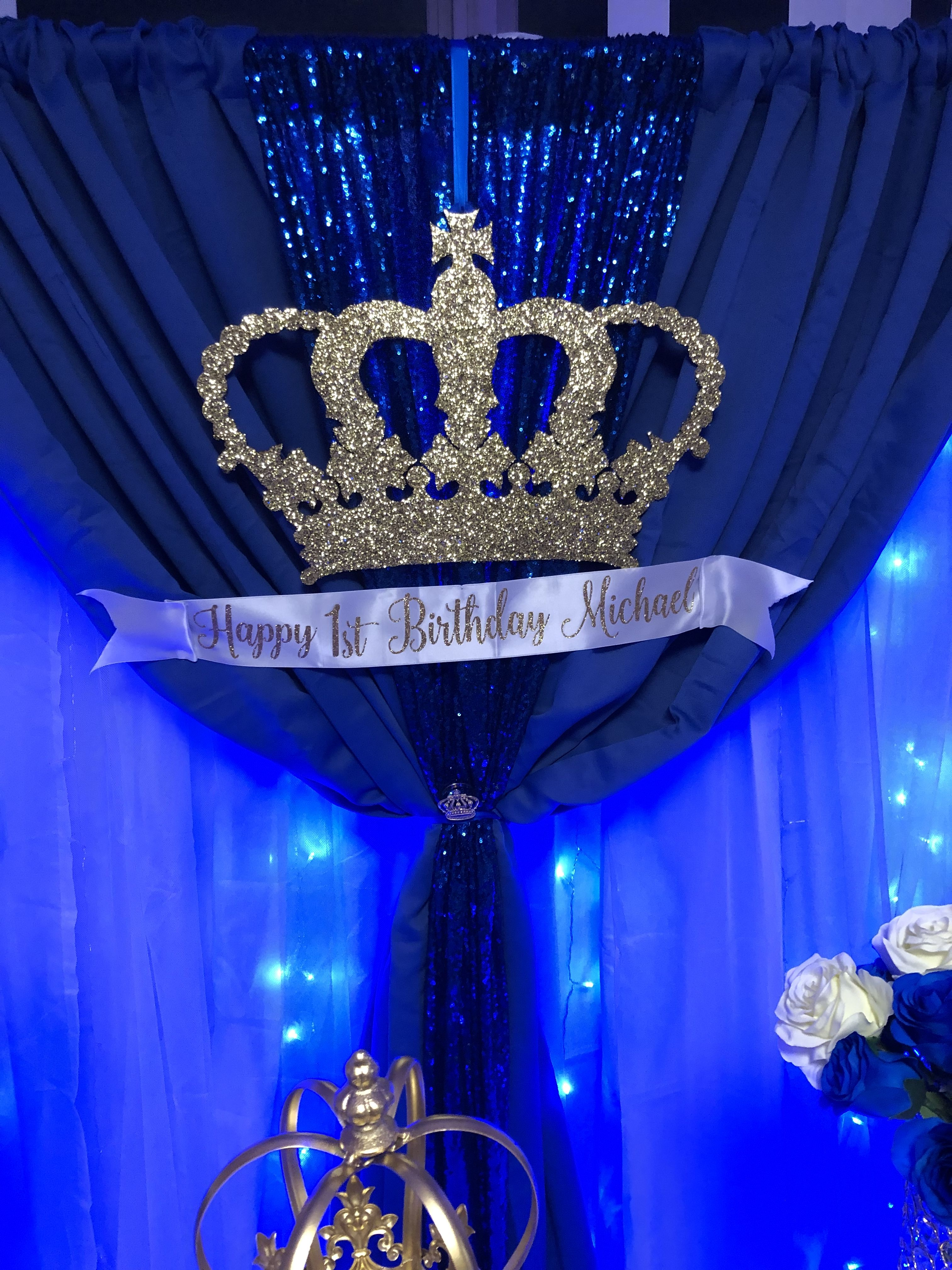 prince birthday party decorations