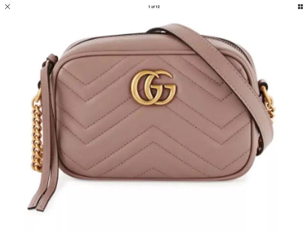 5de2b327a192 Gucci Marmont Gg Matelasse Mini Camera Porcelain Rose Leather Cross Body  Bag #fashion #clothing #shoes #accessories #womensbagshandbags (ebay link)