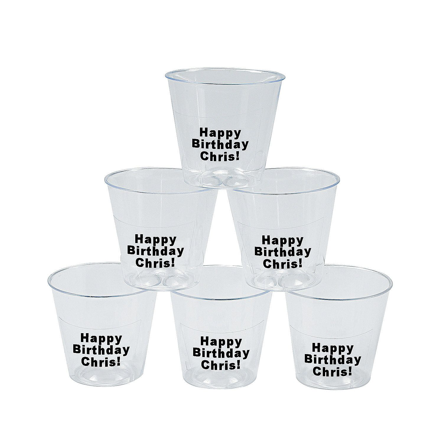 Personalized Mini Shot Glasses - OrientalTrading.com filled with ...