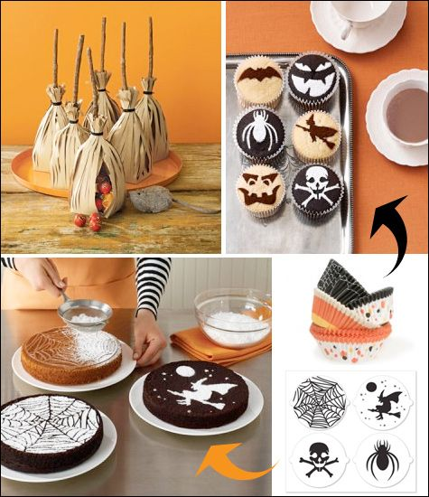 halloween cupcake stencils at martha stewart crafts - Martha Stewart Halloween Cakes