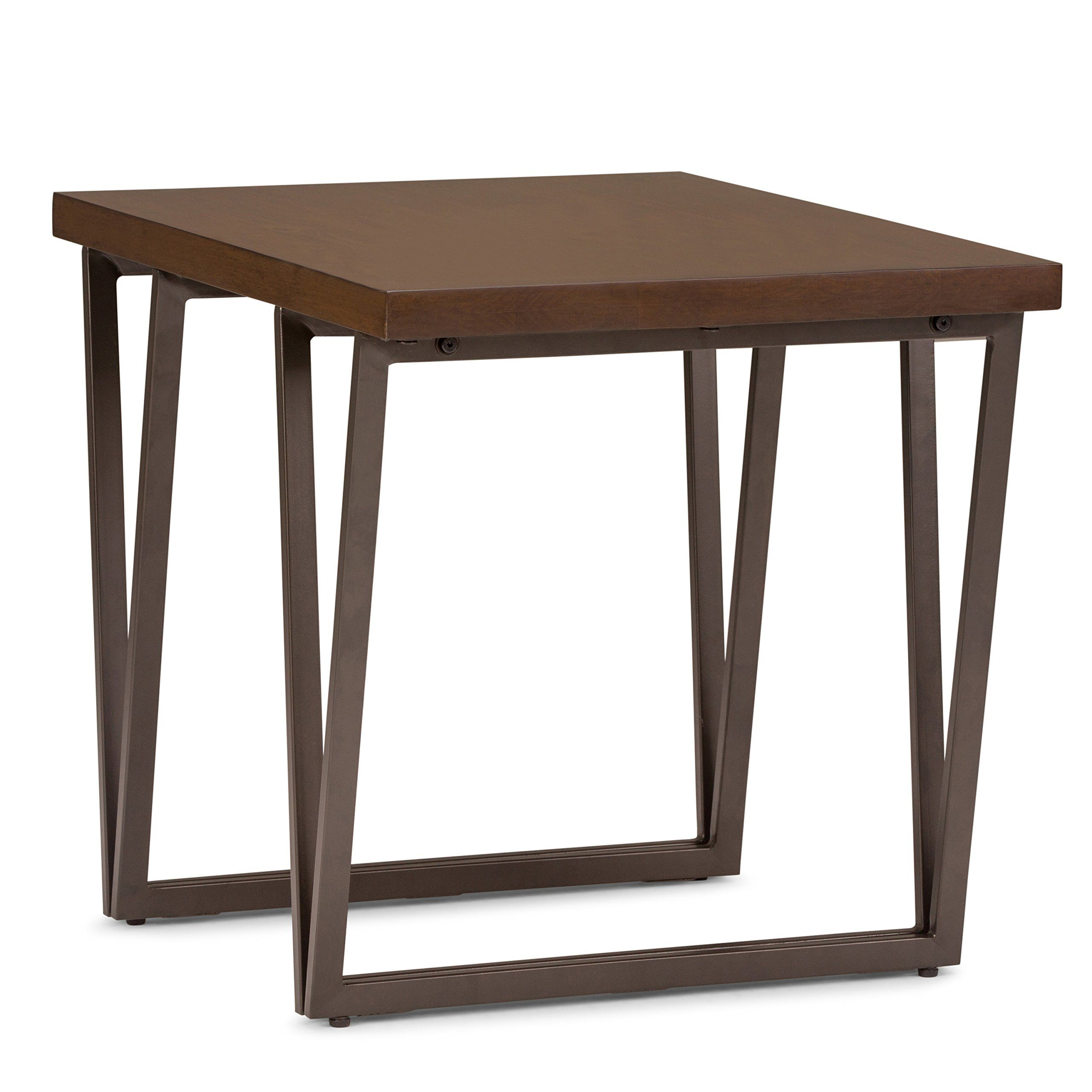 Simpli Home Axcrdy 02 Ryder Solid Wood And Metal 24 Inch Wide