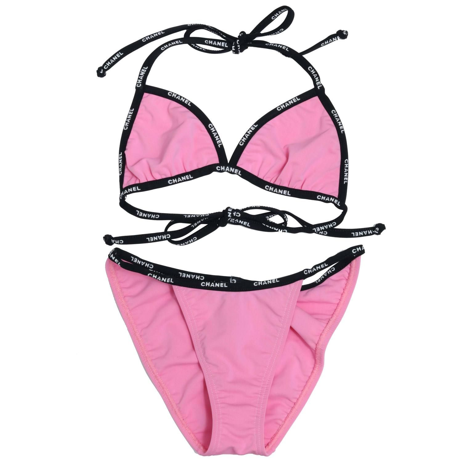 ee5c5f99ef622f Extremely Rare Chanel Pink Bikini with Logos | From a collection of rare  vintage…