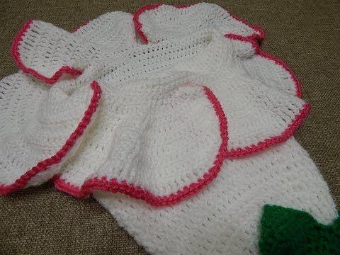 Capullo Bebé con forma de Flor / Tutorial Crochet   Crochet y Dos ...