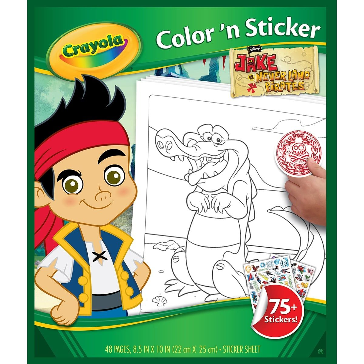 Crayola Color N Sticker Book 10 X8 5 Jake And The Never La Jake And The Never Land Pirates Products Pinterest