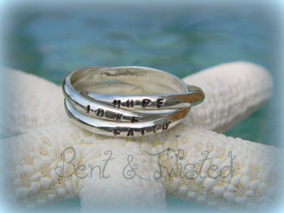 Personalized Russian Wedding Ring Hand Stamped Mother S Ring