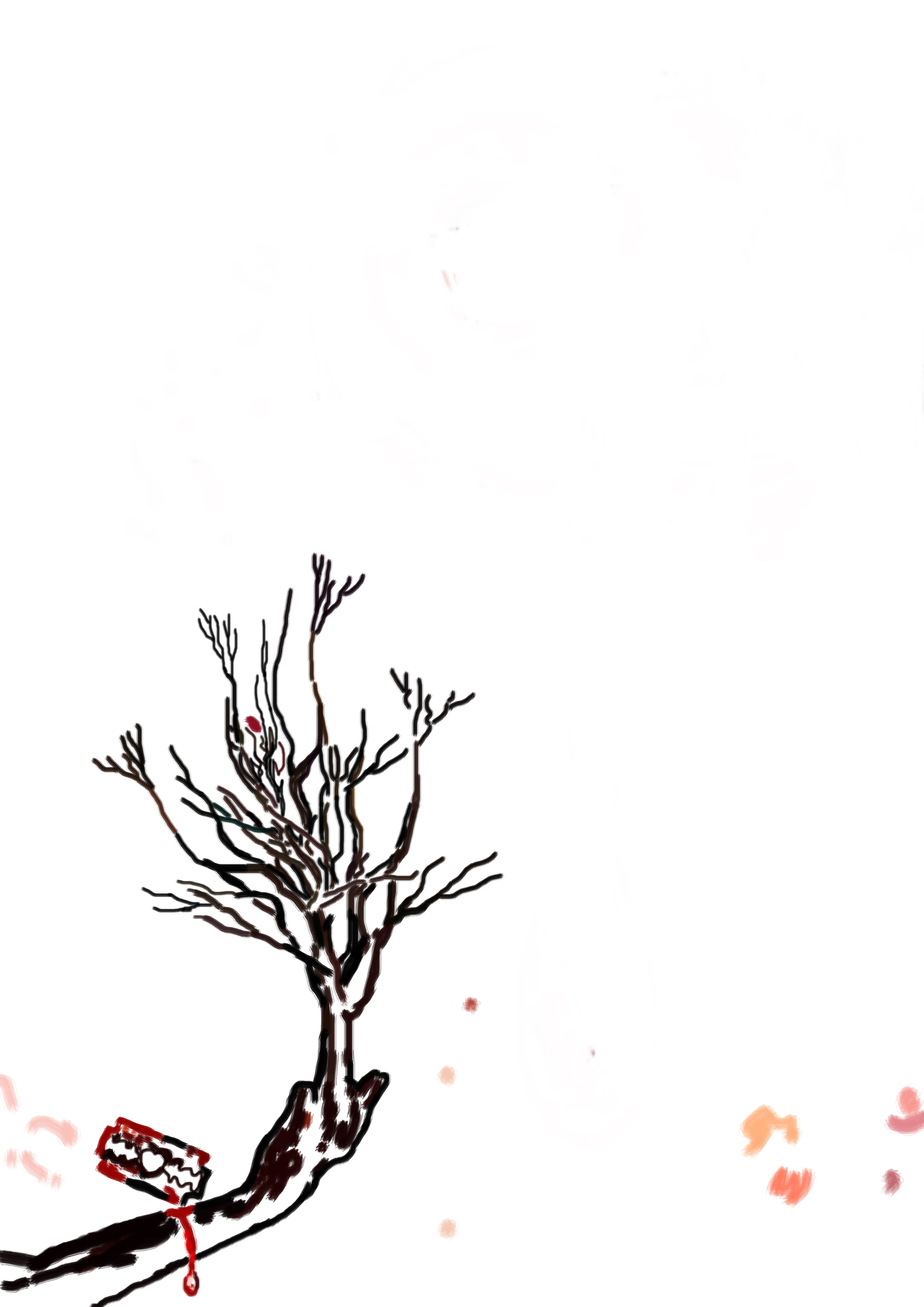 """Bosquejo para """"La lagrima indecisa"""" (The Indecisive Tear) del libro: El Santuario que Arde"""" de Hernán Ergueta"""
