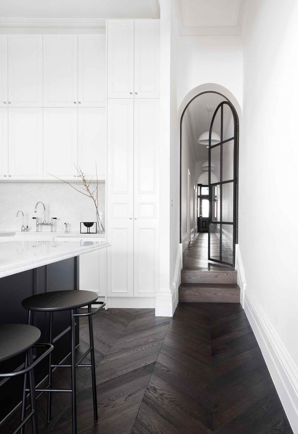 20 modern kitchen ideas to pin for later #darkflooring