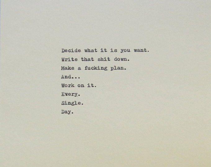 Hand Typed Quote On Vinatge Typewriter | Etsy