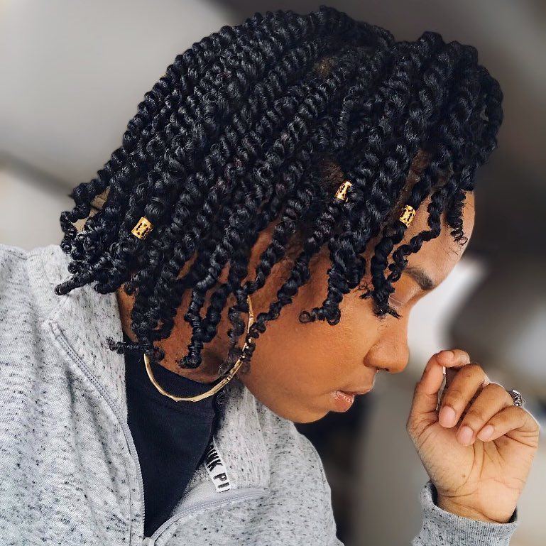Chic Protective Style Natural Hair Twists Mini Twists Natural Hair Short Natural Hair Styles