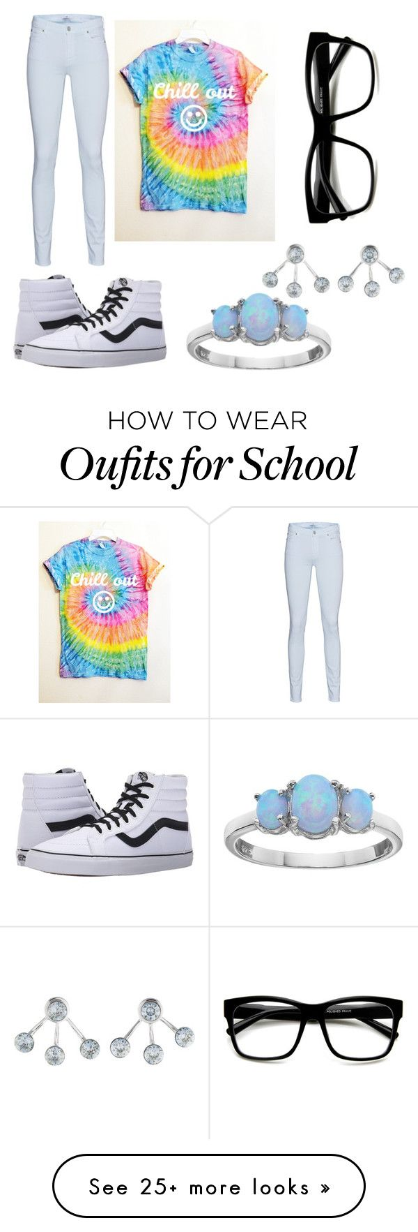 """""""School ✌️"""" by lillianrae on Polyvore featuring Vans, 7 For All Mankind, CA&LOU and Retrò"""