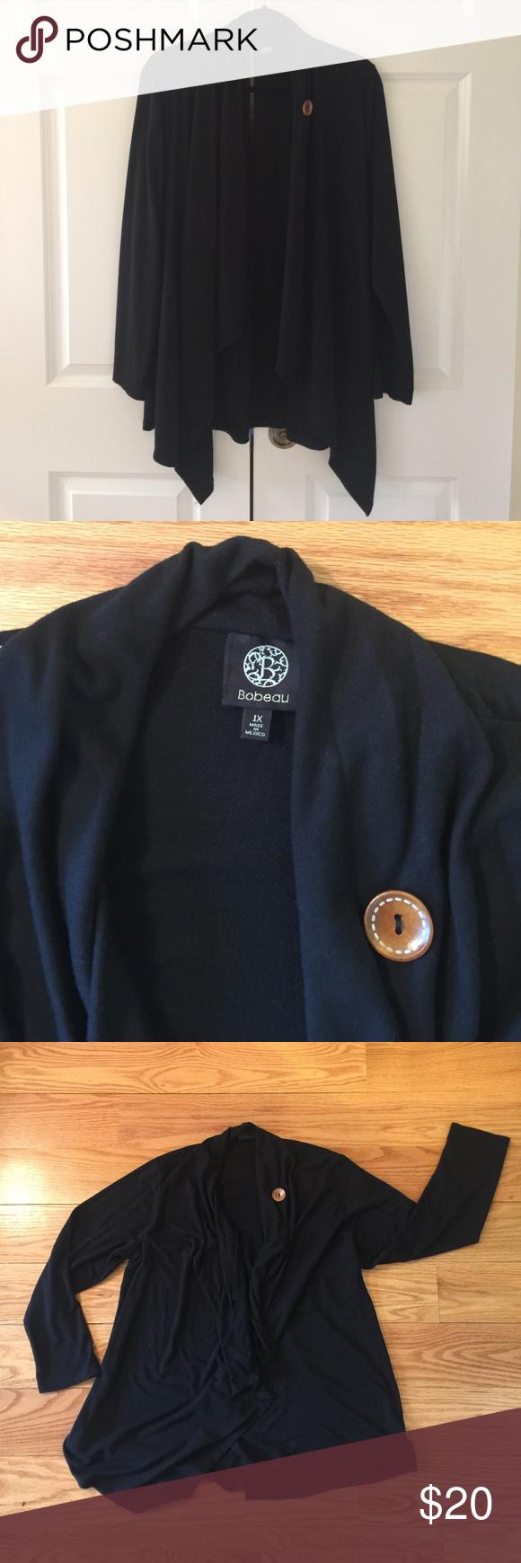 Bobeau black sweater jacket | Nice, Black and Jackets